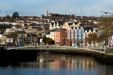Colourful houses behind Shandon Bridge, Cork City