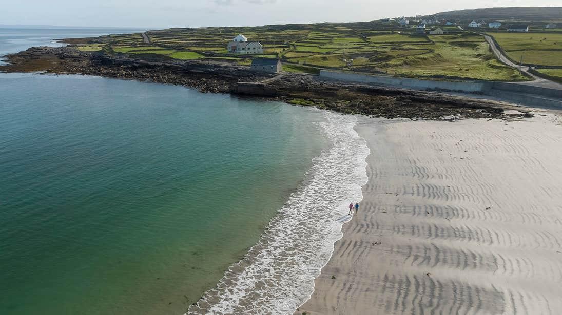 Green fields near Kilmurvey Beach, Inishmore, Aran Islands, Galway