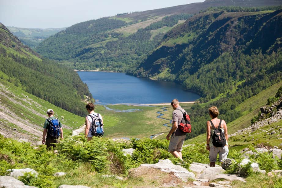 Image of hikers in Glendalough in County Wicklow