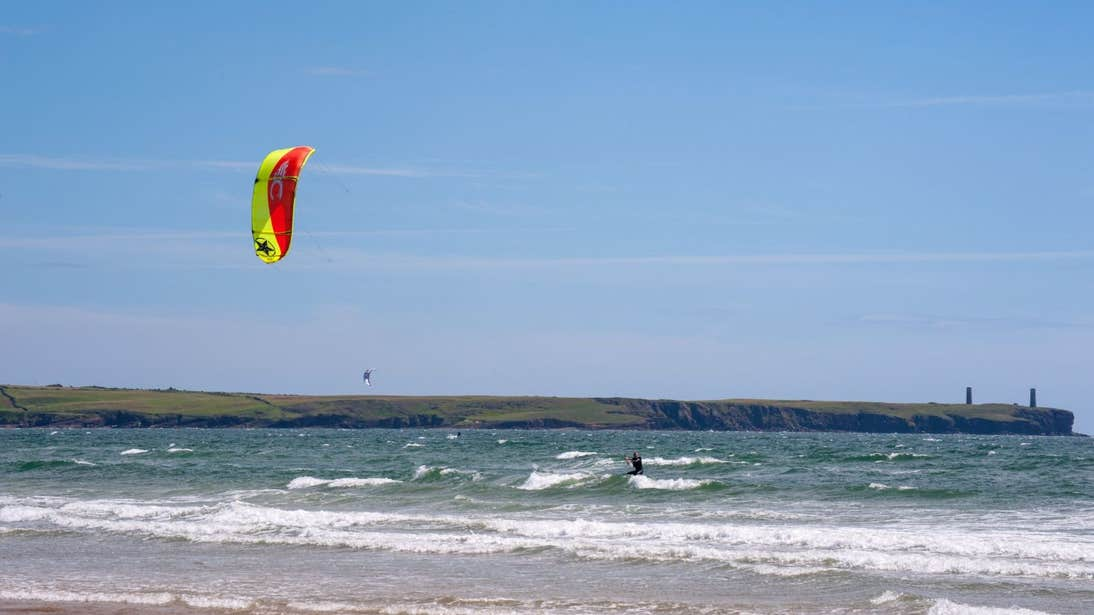 Kitesurfer on Tramore Beach in County Waterford