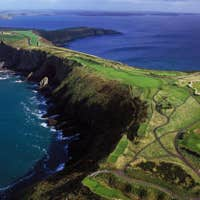 A narrow strip of land at the Old Head of Kinsale in County Cork.