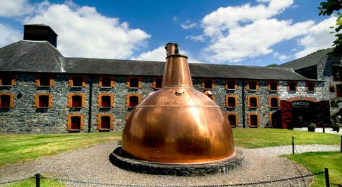 A large copper still outside Jameson Experience, Midleton, County Cork