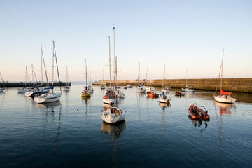 Boats in the evening sun in Bray, Wicklow