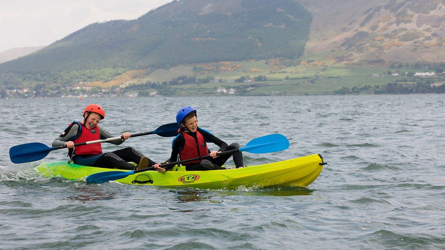 Have fun kayaking at Carlingford Adventure Centre and Skypark.