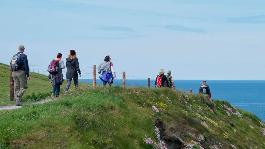 See the mighty Cliffs of Moher on your walk in Doolin.