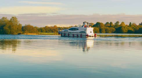 Cruise Boat  on the river Shannon in County Leitrim
