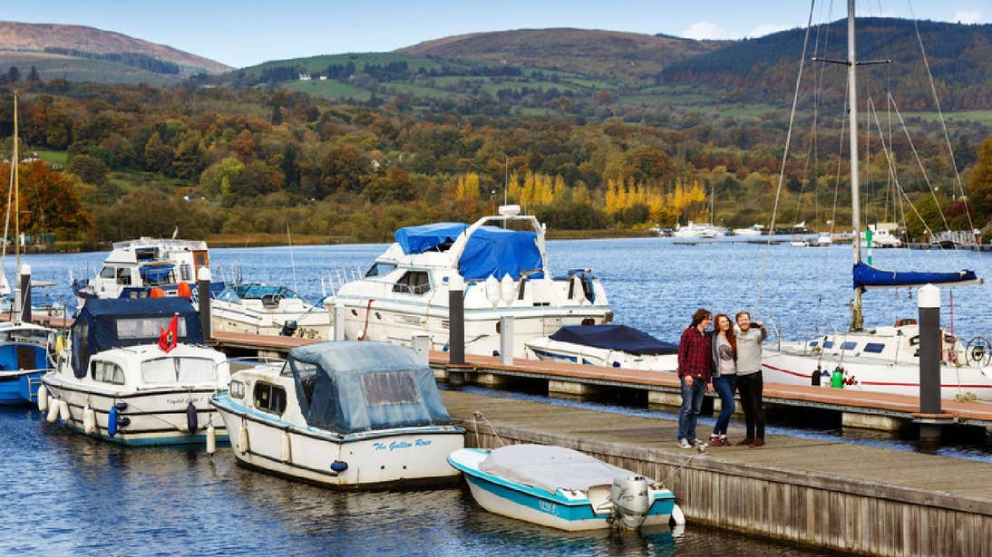 People getting ready to go on a Killaloe River Cruises in County Clare