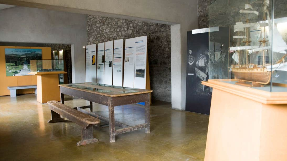 Exhibits at the National Famine Museum in Strokestown Park House, Co. Roscommon