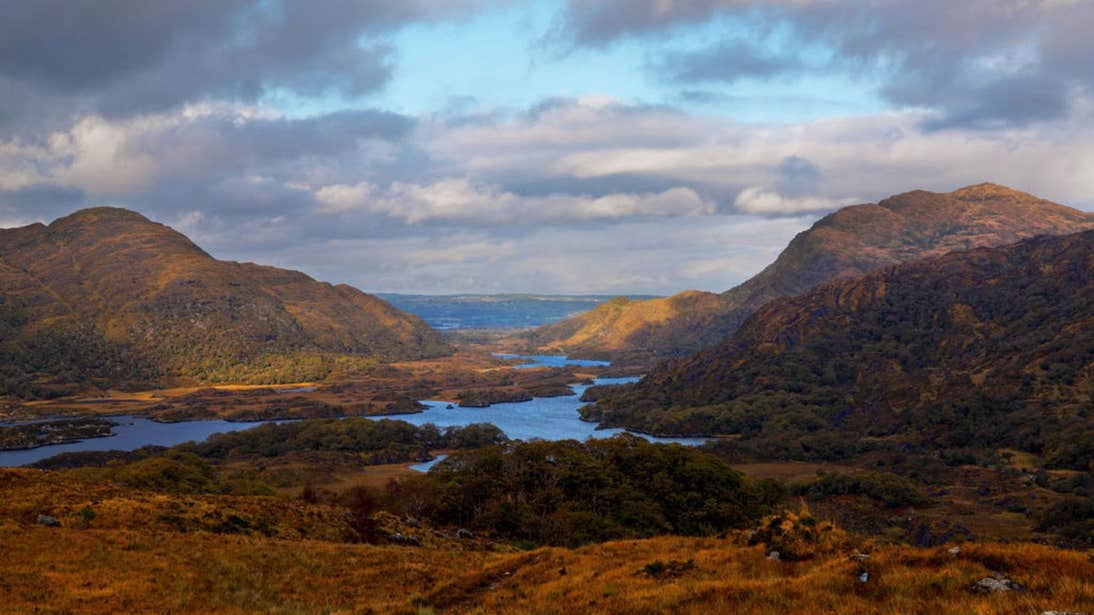View of lakes and mountains, Killarney, Co. Kerry