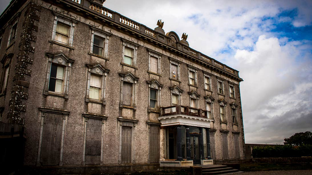 The ominous exterior of Loftus Hall, Wexford.