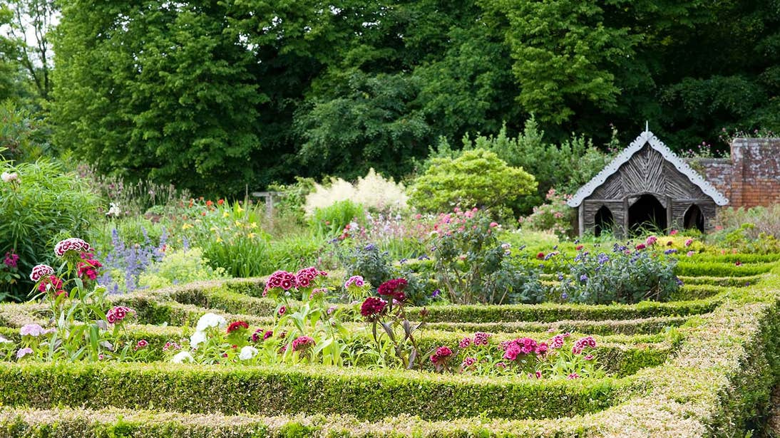 Colourful gardens with hedges and flowers in Beauliey House Drogheda County Louth