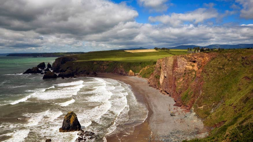 One of the many incredible views along The Copper Coast in Waterford.