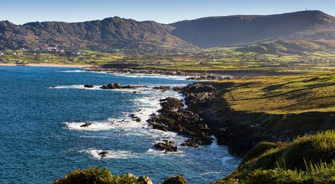 The Atlantic Ocean on the Beara Peninsula in West Cork with Slieve Miskish Mountains in the background