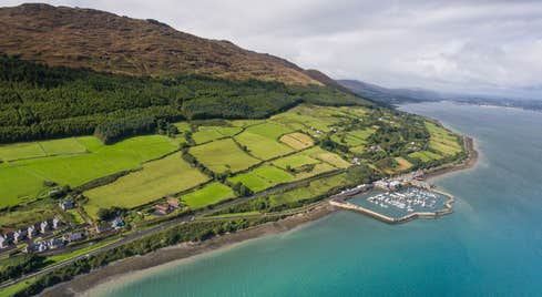 Clear waters and green hills of Carlingford in Louth