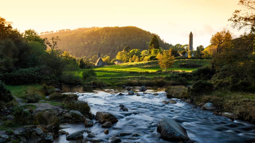 Glendalough is spectacular at sunset.