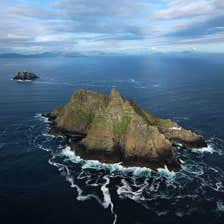 Aerial view of the Skellig Islands, County Kerry
