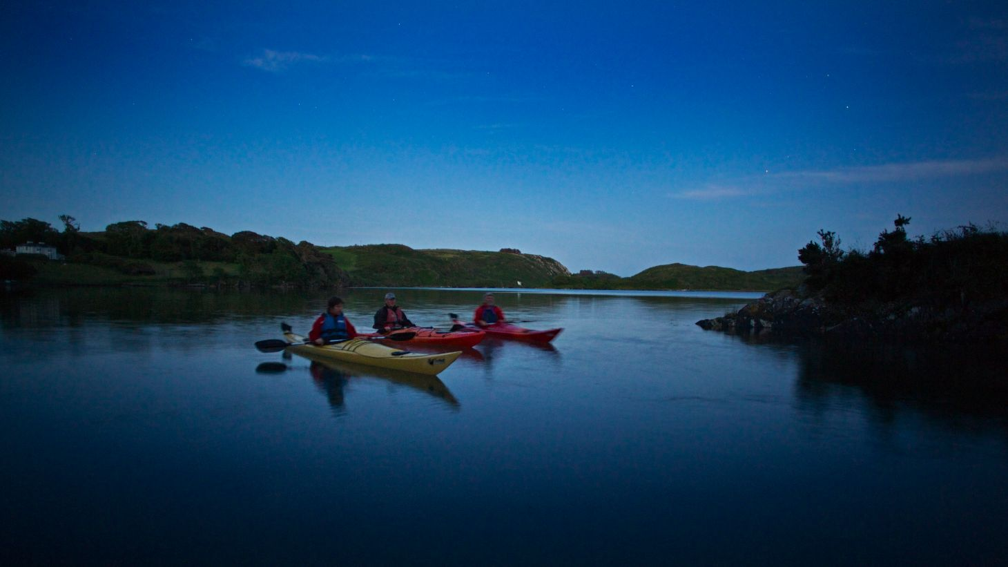 The evening light on Lough Hyne in West Cork.