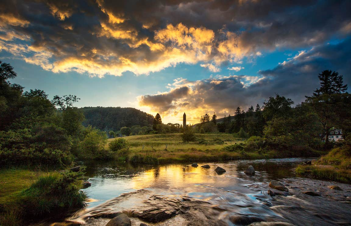 A sunset at Glendalough, County Wicklow