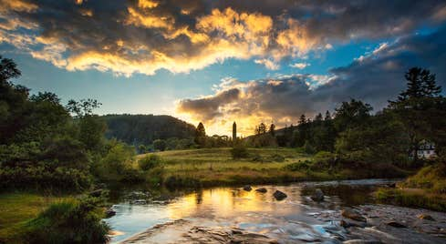 A sunset at Glendalough, Wicklow
