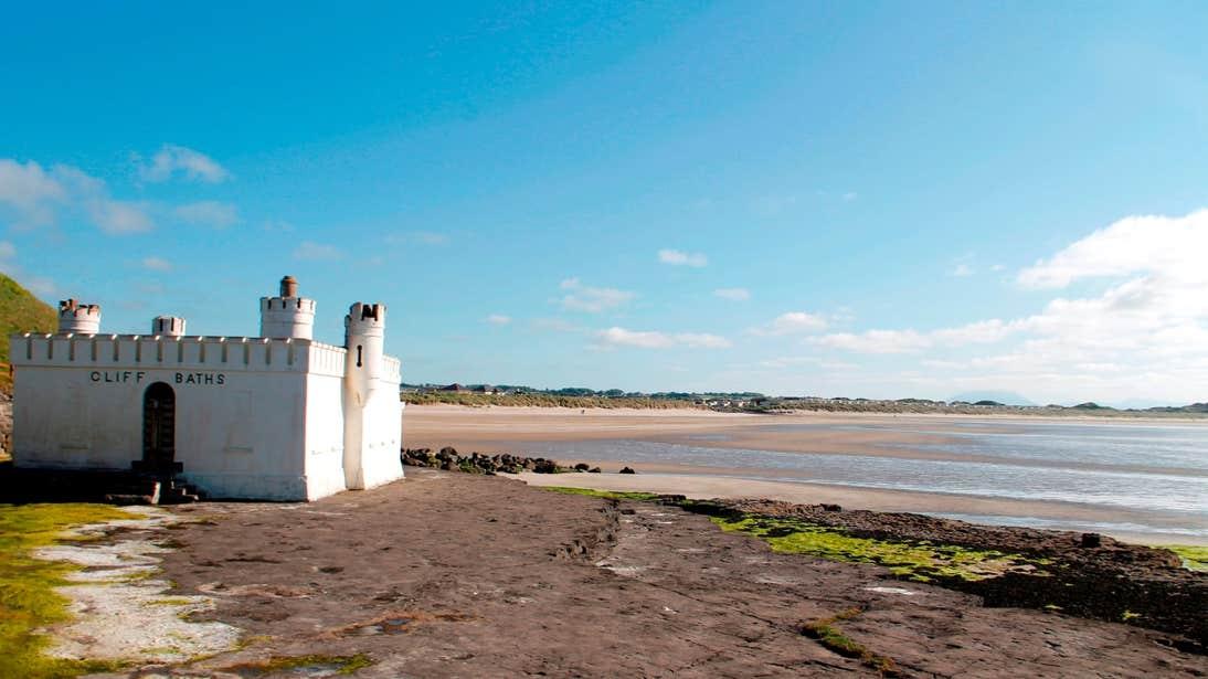 A clear, bright day at the Cliff Baths in Enniscrone, County Sligo
