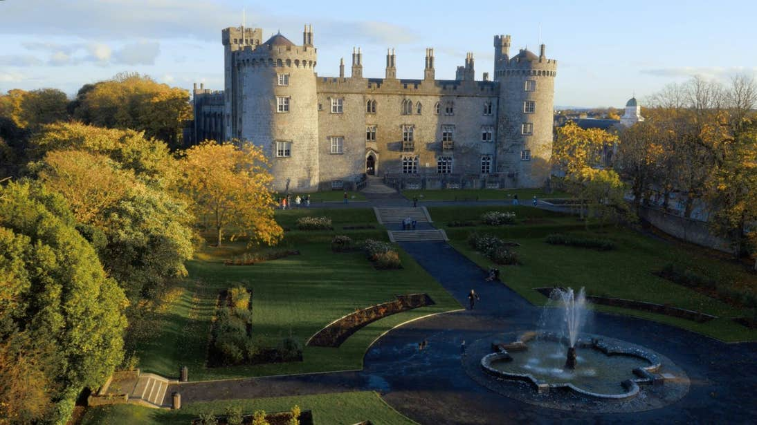 Kilkenny Castle and grounds, County Kilkenny on an autumn day