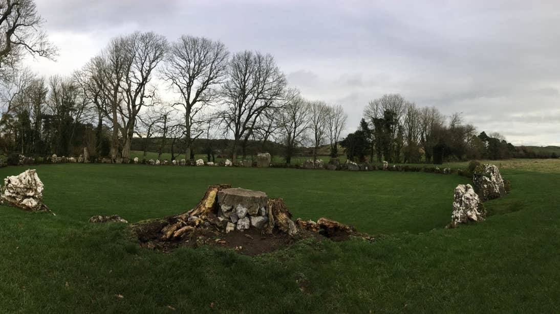 Grey skies at the Grange Stone Circle in Limerick