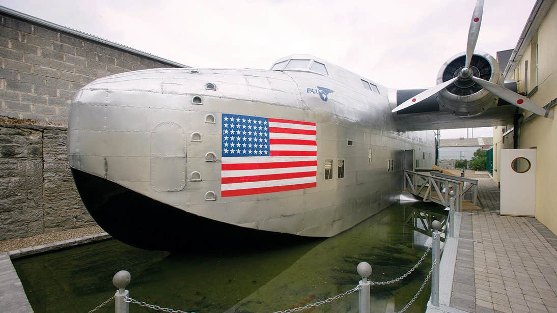 Large aircraft at Foynes Flying Boat Museum, Foynes in County Limerick