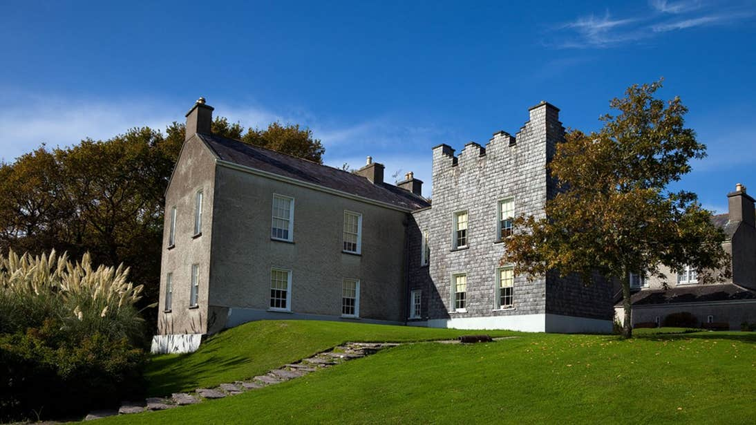 The stone exterior of Derrynane House, Co. Kerry