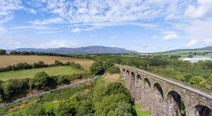 View of viaduct and countryside
