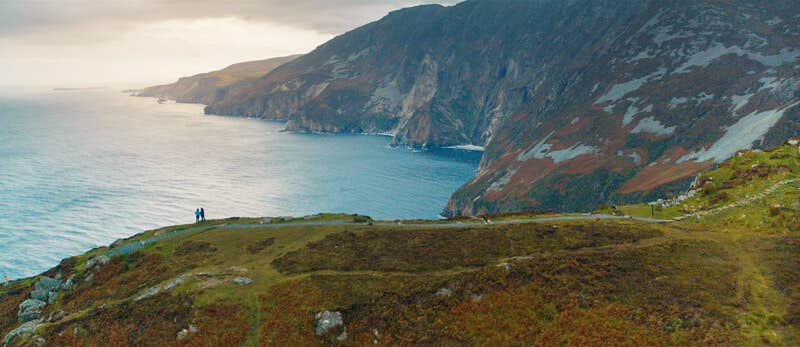 Slieve League mountain view in County Donegal