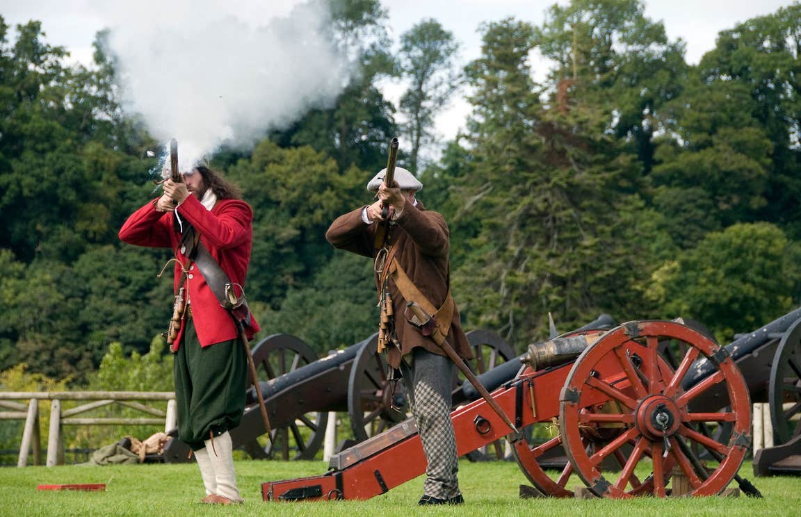 A reenactment of Battle of The Boyne, County Meath