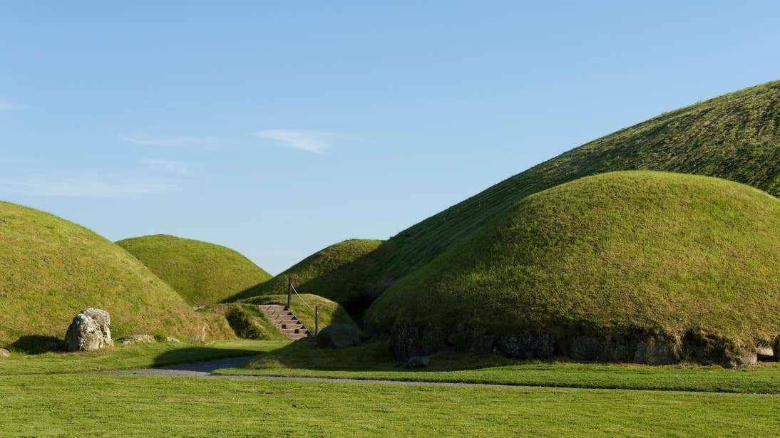 Ancient green hills at Knowth, Meath