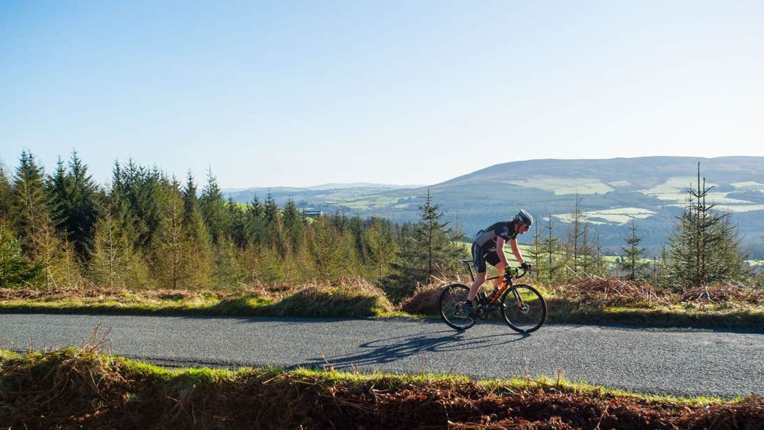 Cyclists in the Wicklow Mountains, County Wicklow