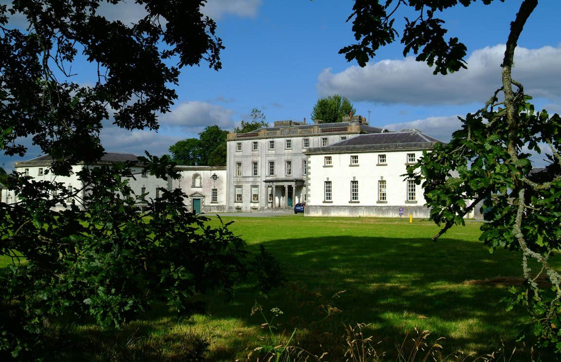 Trees in front of Strokestown House in Roscommon