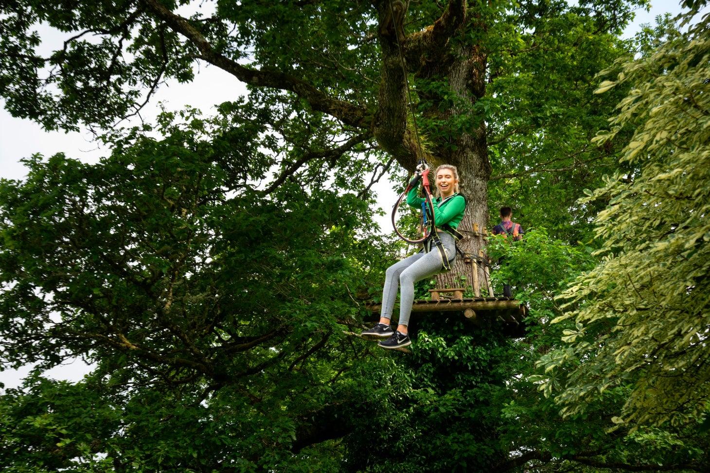 Ziplining at Lough Key Forest Park