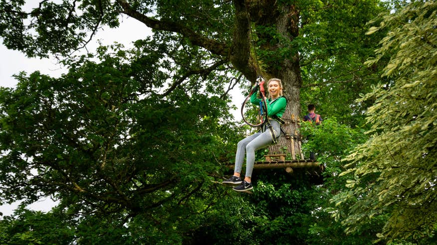 Zip through the trees at Lough Key Forest Park.