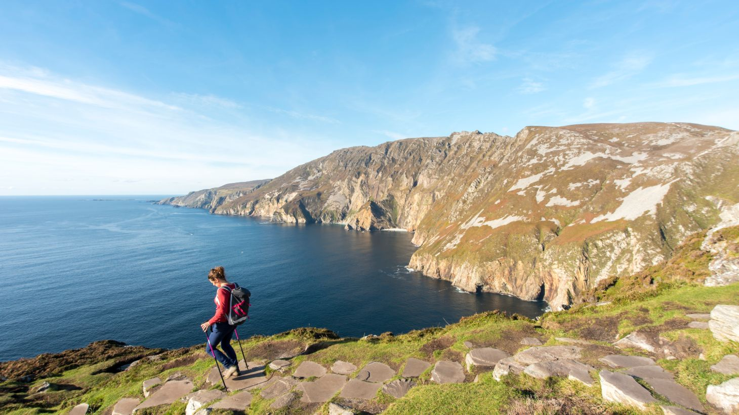 See the spectacular Slieve League sea cliffs.