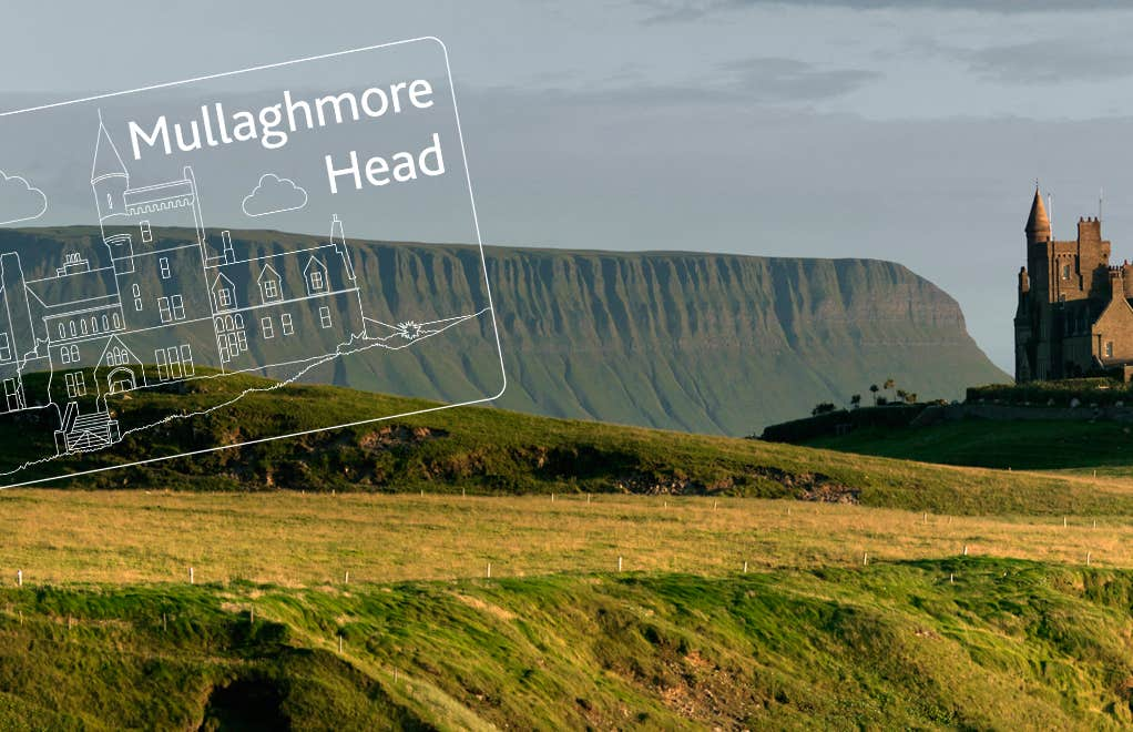 Mullaghmore Head in the Wild Atlantic Way with the passport stamp