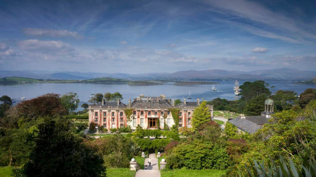 Bantry House surrounded by lush gardens in County Cork