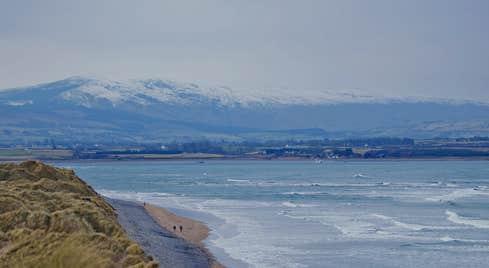 Waves crashing on Strandhill Beach in County Sligo