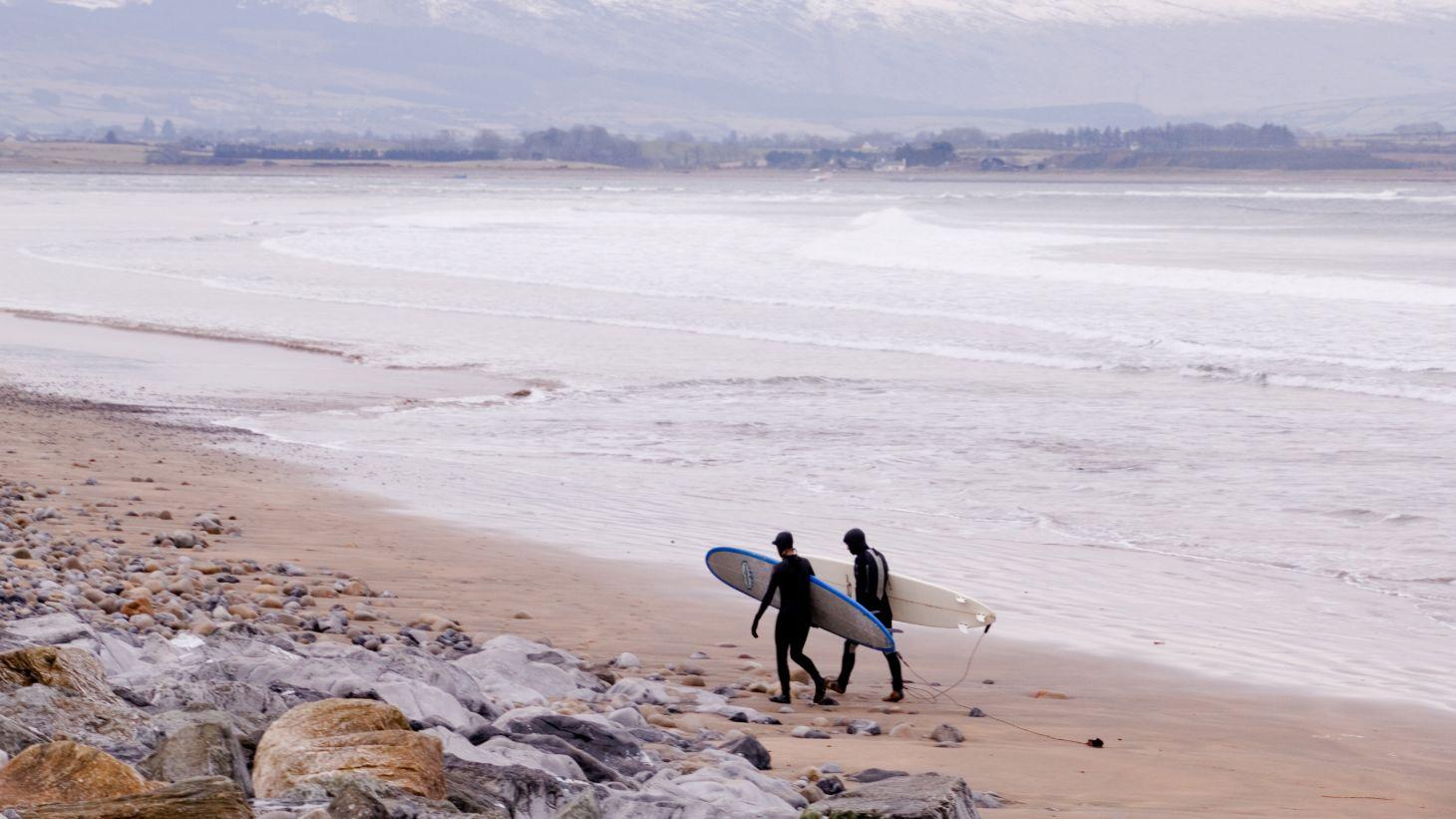 Catch your first wave on Strandhill Beach in Sligo.