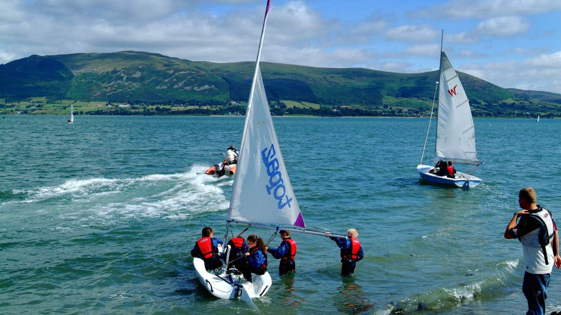 A group of people sailing on Carlingford Lough, Carlingford