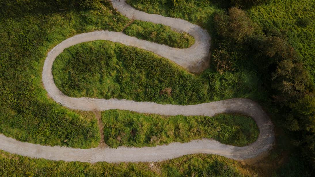 Aerial view of Slieve Bloom Mountain Biking Trail, Laois