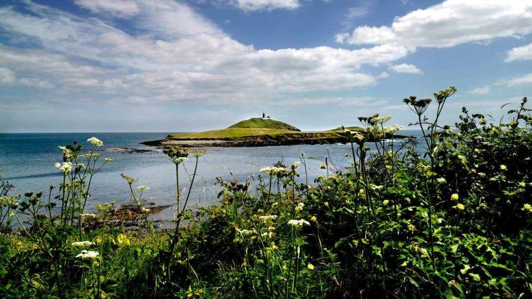 A view of the small Ballycotton Island, County Cork