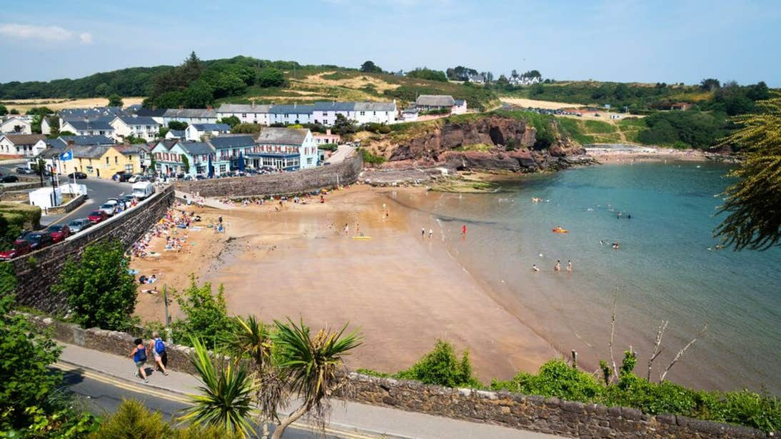 A sheltered beach at Dunmore East, Waterford