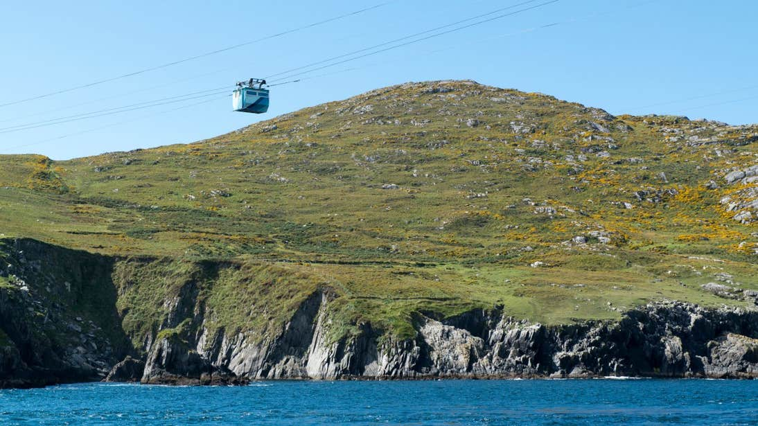 A cable car making its way to Dursey Island.