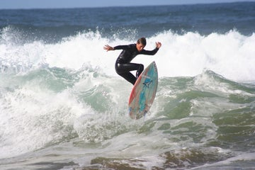 Surfer in Louisburgh in County Mayo
