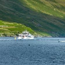 Image of cruising boat on Killary Harbour, Connemara, County Galway
