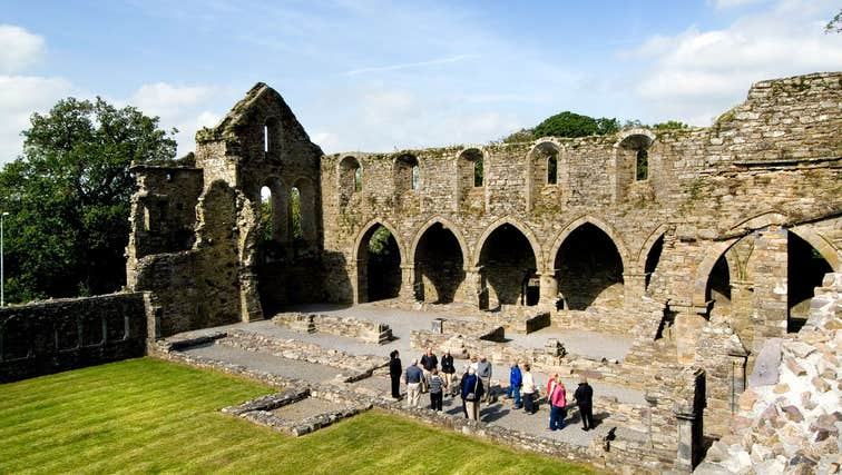 Visitors at Jerpoint Abbey, County Kilkenny