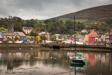 A small boat in the harbour in Bantry in County Cork